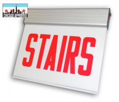 LED Surface Edgelit Stairs Sign | E-X1ES Series | Single Face | Battery Backup