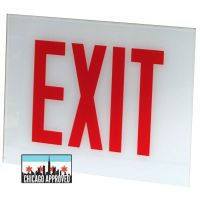 Glass Panel for E-X1X Series Exit Signs | No Arrow