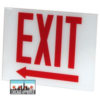 Glass Panel for E-X1X Series Exit Signs | Left Arrow