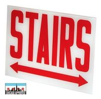 Glass Panel for E-X1X Series Stairs Signs | Double Arrow