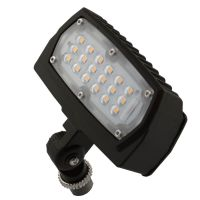 LED Flood Light | E-FCB Series | 1/2-inch Adjustable Fitter Mount | 3300 Lumens | Dark Bronze