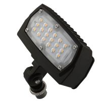 LED Flood Light | E-FCB Series | 1/2-inch Adjustable Fitter Mount| 3000K | 1500 Lumens | Dark Bronze