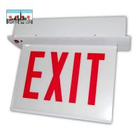 LED Recessed Edgelit Exit Sign | E-X1ER Series | Double Face | Battery Backup