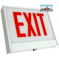 LED Exit Sign | E-X1X Series | Single Face Steel | Battery Backup | White
